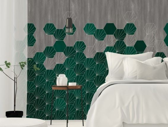 Concrete Tiles Ocean Room