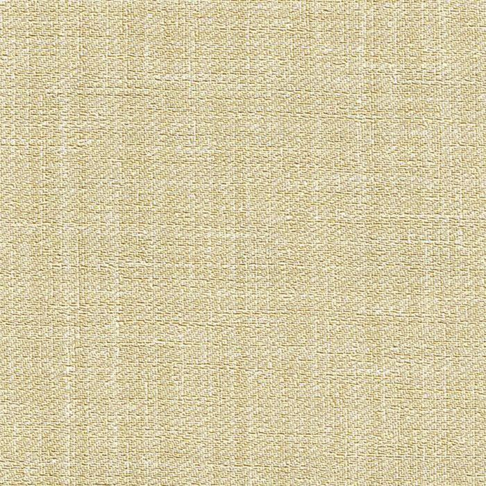 An embossed woven linen textured wallcovering in golden cream colourway
