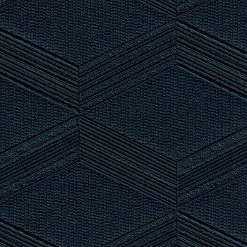 A rich dark navy embossed geometric cubic design