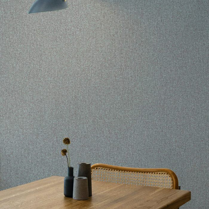 Weave print with a tactile emboss. Wallcovering for commercial interiors.